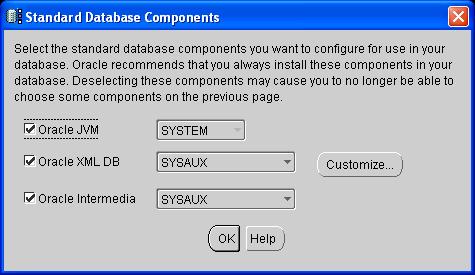Oracle database creation for 1C:Enterprise using Oracle Database